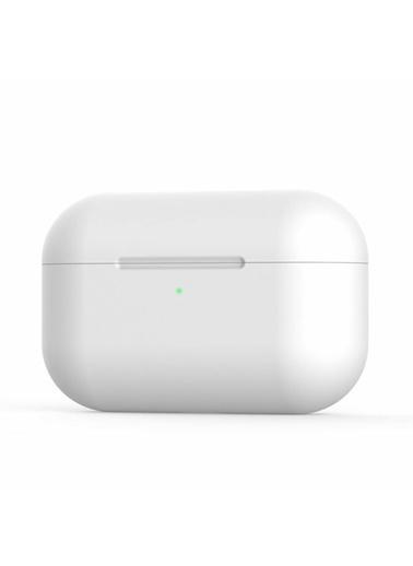 Techmaster Airpods Pro Ultra ınce Silikon Dayanıklı Kılıf Koruma Beyaz